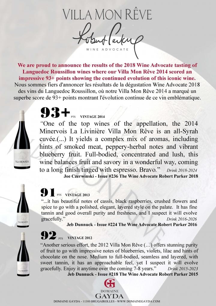 Robert Parker Wine Advocate 2018